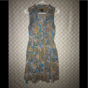 H&M sleeveless paisley dress w/ pockets